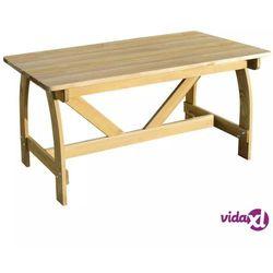 Vidaxl stół ogrodowy z drewna sosnowego (8718475975984)