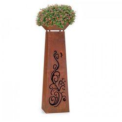 Blumfeldt Flower Tower Kwietnik/misa paleniskowa ze stali styl rustykalny