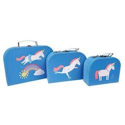 3 piękne walizki magiczny jednorożec rex london marki Rex london trade