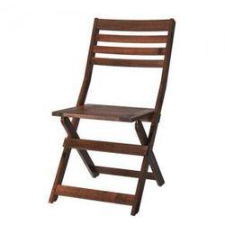 APPLARO Krzesło, ogrodowe, brązowy składany brązowa bejca brązowa bejca, towar z kategorii: Krzesła ogrodowe