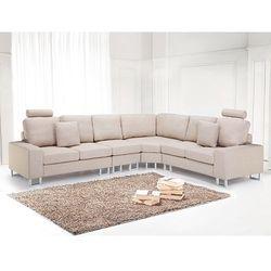 Sofa tapicerowana - kanapa z 100% poliestru bezowa - STOCKHOLM, produkt marki Beliani