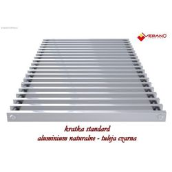 Verano Kratka standard - 20/360 do grzejnika vk15, aluminium naturalne o profilu zamkniętym