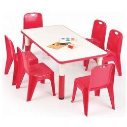 Prostokątny stolik dziecięcy Hipper 2X - czerwony, V-CH-SIMBA-ST-PROSTOKĄT-CZERWONY