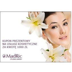 MadRic KUPON PREZENTOWY na usługi kosmetyczne za kwotę 1000 zł. z kategorii Upominki