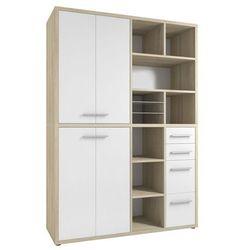 Regał biurowy SET+ 216x155 cm, naturalny-biały, MDF, 16892446