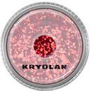 Kryolan POLYESTER GLIMMER COARSE (BRIGHT RED) Gruby sypki brokat - BRIGHT RED (2901)