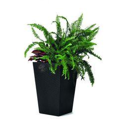 Elegancka doniczka Keter Large Planter (L-144L) - Antracyt (doniczka i podstawka)