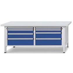 Stół warsztatowy z szufladami XL/XXL,szer. 2000 mm, 8 szuflad