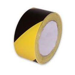 Rolka Taśma ostrzegawcza żółto czarna - szerokość 80 mm, długość 100 m, kategoria: taśmy ostrzegawcz