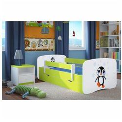 Łóżko dziecięce ze stelażem Happy 2X mix 80x180 - zielone, Kocot-łóżko-babydreams-zielone-pingwin