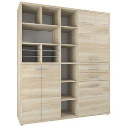 Regał biurowy set+ 216x191 cm, naturalny, mdf, 16925524 marki Maja-möbel