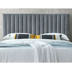 Zagłówek łóżka z pionowymi szwami agenore - tkanina imitująca welur - 160 cm - kolor szary antracyt marki Vente-unique