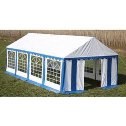 vidaXL Pawilon ogrodowy 8x4m (dach+penele boczne), niebiesko-biały