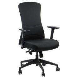 Stema - hn Fotel biurowy gabinetowy kenton - krzesło biurowe obrotowe w kolorze czarnym