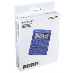 Kalkulator biurowy CITIZEN SDC-812NRNVE, 12-cyfrowy, 127x105mm, granatowy (4560196212640)