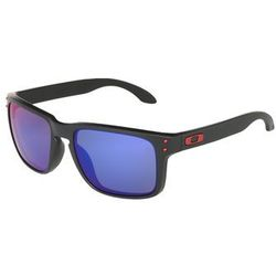 Oakley HOLBROOK Okulary przeciwsłoneczne matte black/positive red iridium - produkt z kategorii- Okulary prze
