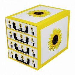 Pudełko kartonowe 4 szuflady pionowe DONICZKI-SŁONECZNIK, kup u jednego z partnerów