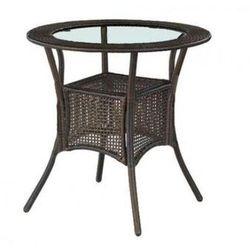 Style furniture Stół ogrodowy hermes śr. 74 cm, brązowy