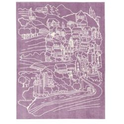 Kids conce Pt dywan zamek fairy, kolor różowo-fioletowy (7340028715382)