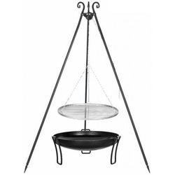 Grill FARMCOOK na trójnogu z rusztem ze stali nierdzewnej 60cm Czarny + Palenisko ogrodowe PAN 39 70cm