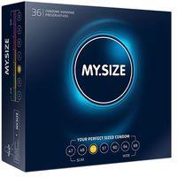 Dopasowane prezerwatywy - My Size Natural Latex Condom 53mm 36szt