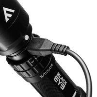 Ładowalna latarka black eye, 420 lm aluminiowa latarka ładowalna o bardzo mocnym strumieniu światła skupio
