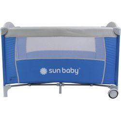 Sun baby Łóżeczko jednopoziomowe sweet dreams niebieskie  sd707/ns, kategoria: łóżeczka turystyczne