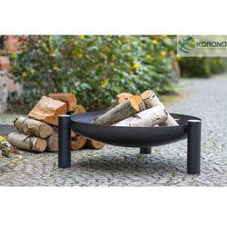 Palenisko ogrodowe ze stali czarnej bez pokrywy średnica 60 cm