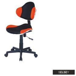 Selsey fotel biurowy morild czarno-pomarańczowy (5903025241340)