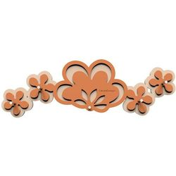Wieszak na klucze merletto  terakota / pomarańcz marki Calleadesign