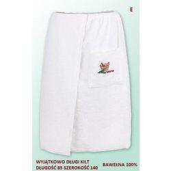 Produkcja własna Sauna kilt ręcznik biały 100% bawełna uniwersalny 85*140 z logo