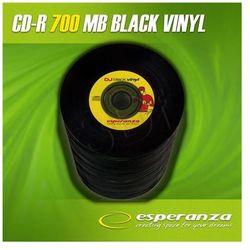 CD-R Esperanza 700MB / 80MIN 52xSpeed VINYL BLACK (Cake 10szt)...