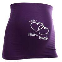 MAMABAND Pas podtrzymujący brzuch Unser kleines Wunder kolor fioletowy z kategorii Pasy ciążowe