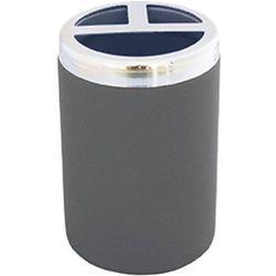 pojemnik na szczoteczki elegance, siwy, 7x7x11 cm marki Wenko
