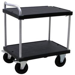Wózek stołowy do dużych obciążeń, dł. x szer. 900x600 mm, nośność 500 kg, czarny