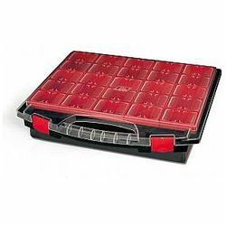 TAYG - Organizer na końcówki, elektronikę, śrubki itp. - 430 x 370 x 85 mm - 25 wyjmowanych pojemników, TG4308025