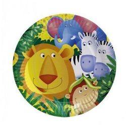 Talerzyki Safari - party w dżungli - 23 cm - 8 szt. (4009775330547)