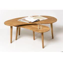 Signu design stolik kawowy dębowy - łezka fabio