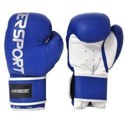 Rękawice bokserskie AXER SPORT A1329 Niebiesko-Biały (8 oz) - produkt z kategorii- Rękawice do walki