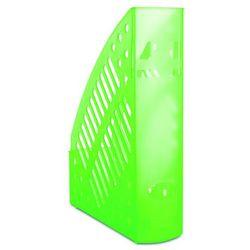 Pojemnik na dokumenty ażurowy DONAU, polistyren, A4, transparentny zielony