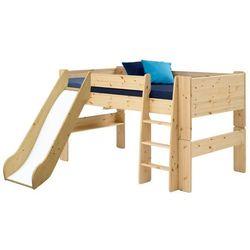Łóżko piętrowe niskie z drabinką z zjeżdżalnią for kids marki Steens