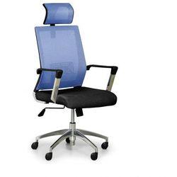 Krzesło biurowe elite net, niebieski/czarny marki B2b partner
