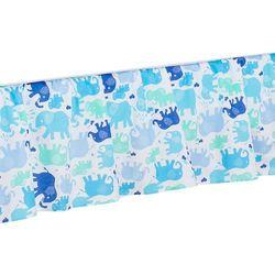 MAMO-TATO Falbanka do łóżeczka Słonie niebiesko-zielone