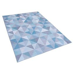 Dywan niebiesko-szary 140 x 200 cm krótkowłosy KARTEPE