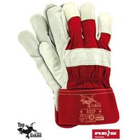 Rękawice robocze wzmacniane skórą licową rhip rozmiar 10 marki R.e.i.s.