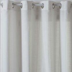 Zasłona marki Atmosphera o wymiarach 140 x 240 cm biała z przepuszczającego światło materiału (3560238918807)