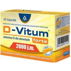 D-Vitum Forte Witamina D3 2000IU 60 kaps., produkt z kategorii- Witaminy i minerały