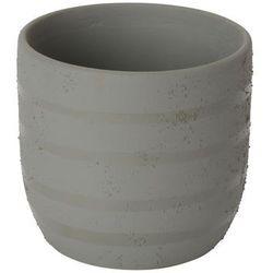 Goodhome Doniczka ceramiczna ozdobna 9 cm szara (3663602441366)