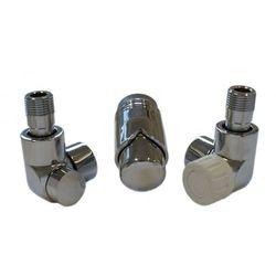 Instal-projekt Grzejnik  603700066 zestawy łazienkowe lux gz ½ x złączka 15x1 stal osiowo lewy chrom