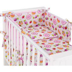dwustronna rozbieralna pościel 3-el babeczki / róż do łóżeczka 70x140cm marki Mamo-tato